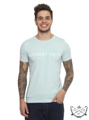 Camiseta Masculina Victory Faith Ciano